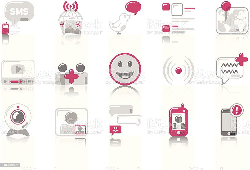 Social Networking - SunnydayPINK Series royalty-free stock vector art
