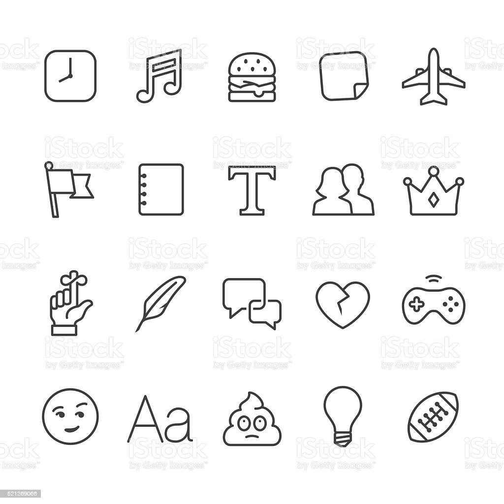 Social Networking vector icons vector art illustration