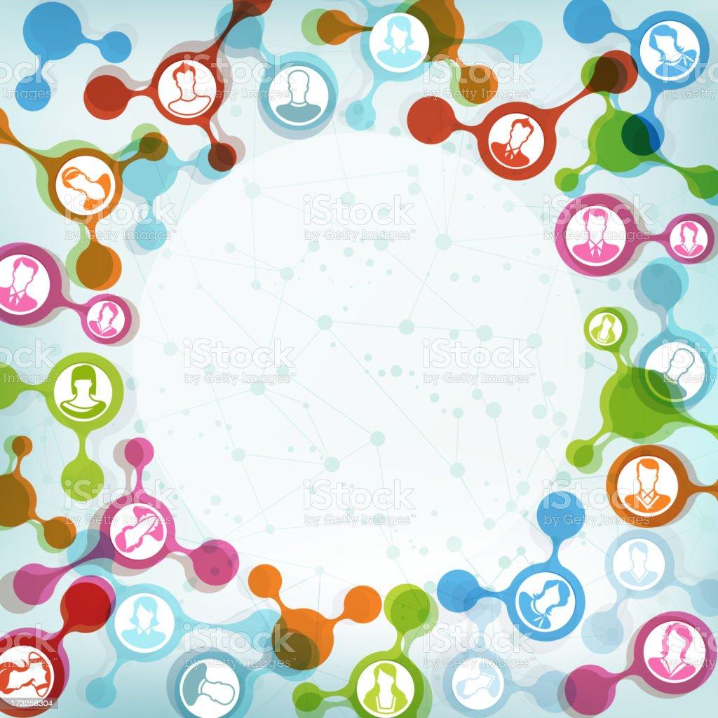 Social Networking vector art illustration