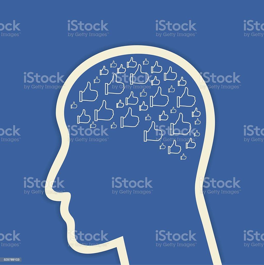 Social networks vector art illustration