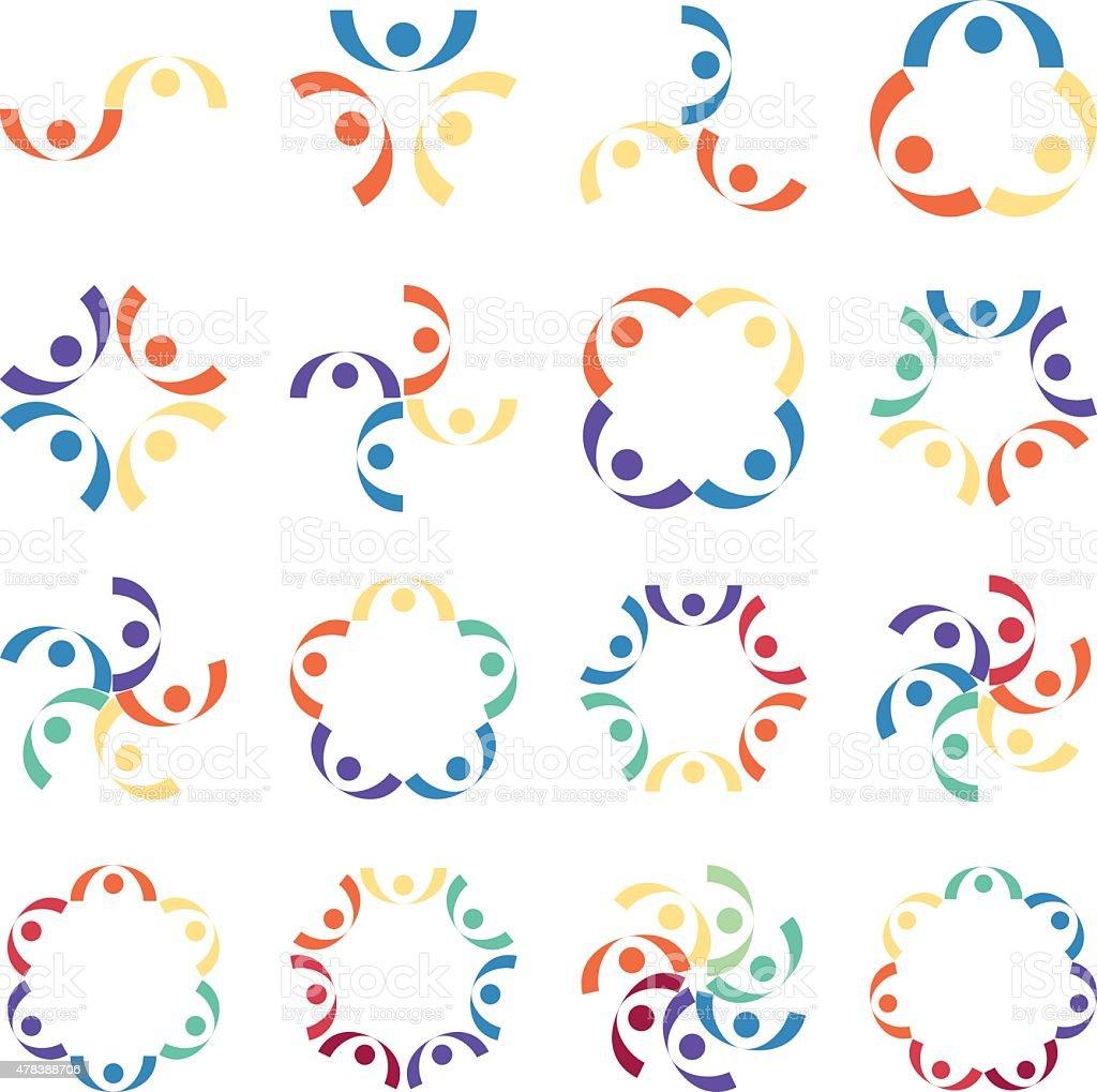 Social relationship logo and icon. Vector illustration vector art illustration