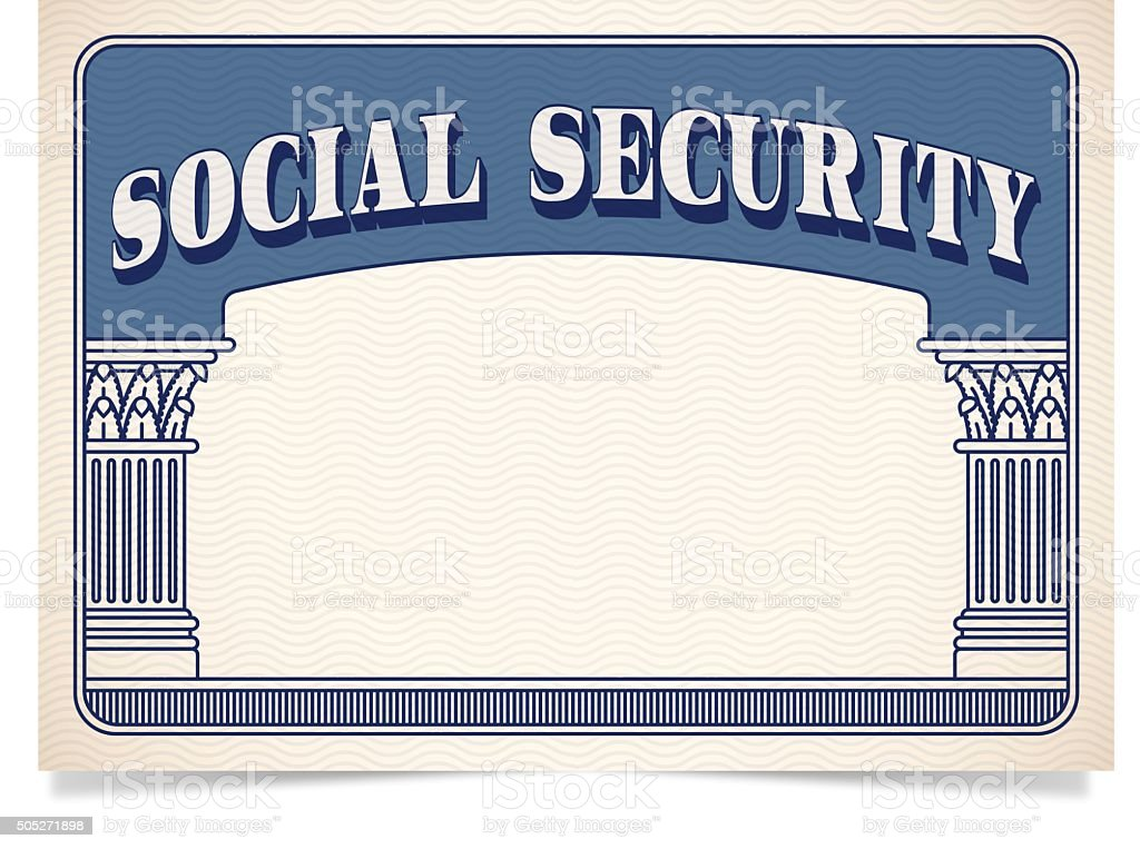 Social Security Card vector art illustration