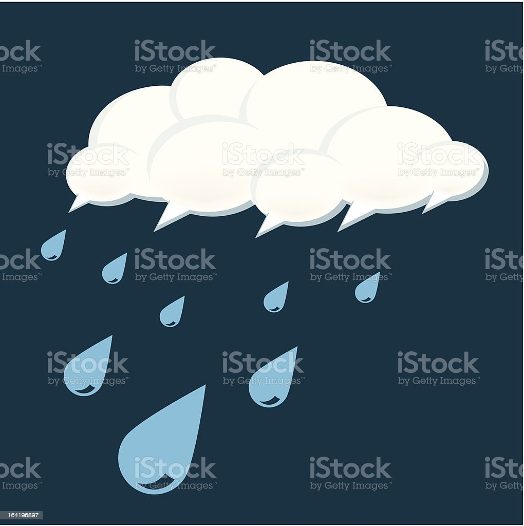 Social Tears Cloud Concept royalty-free stock vector art