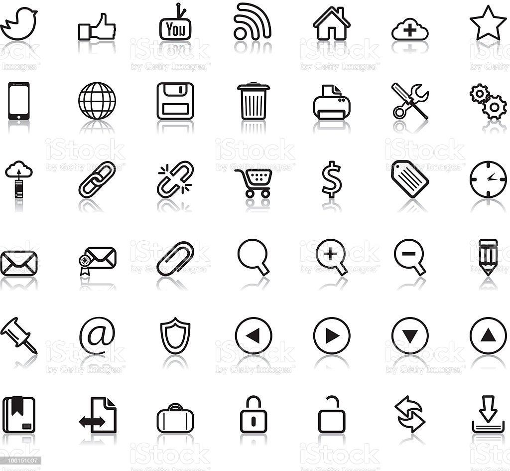 Social Web Icons royalty-free stock vector art