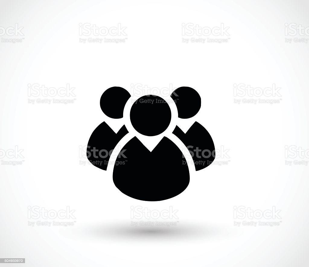 Society icon vector illustration vector art illustration