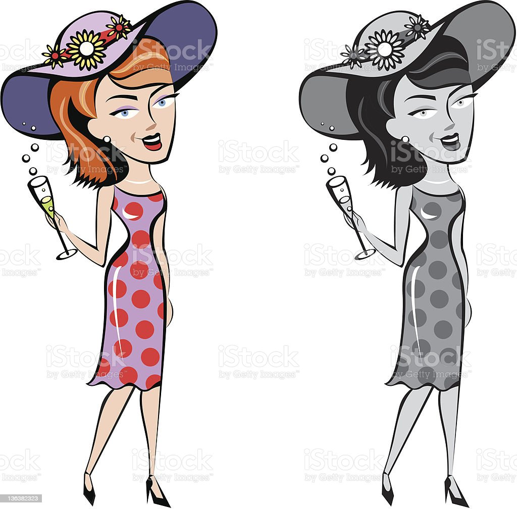 Society lady royalty-free stock vector art