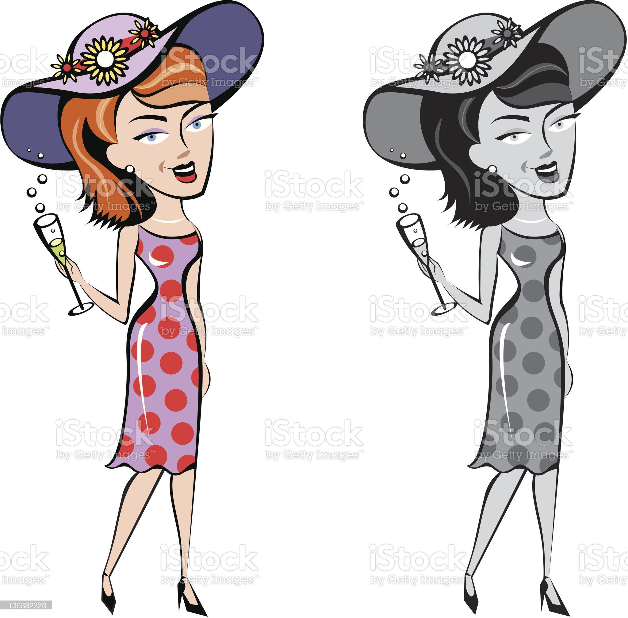 Society lady royalty-free stock vector art