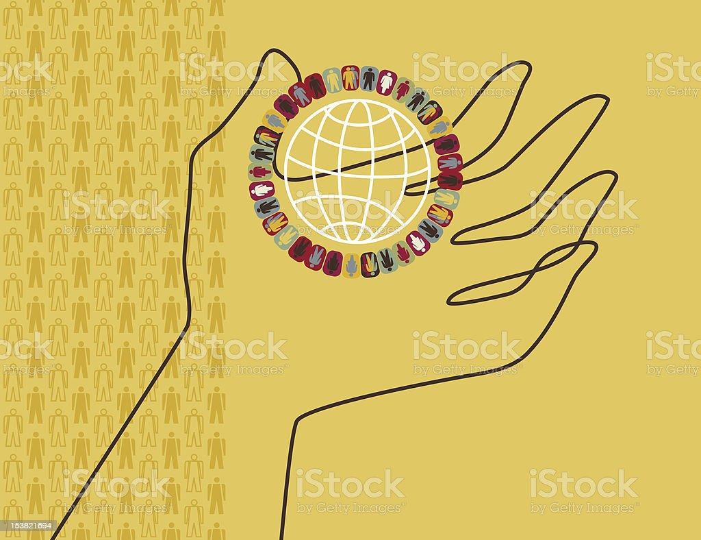 Sociology vector art illustration