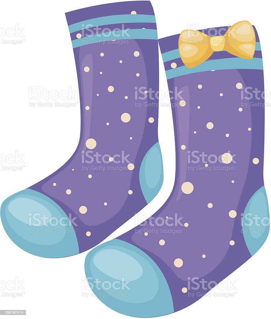 sock vector royalty-free stock vector art