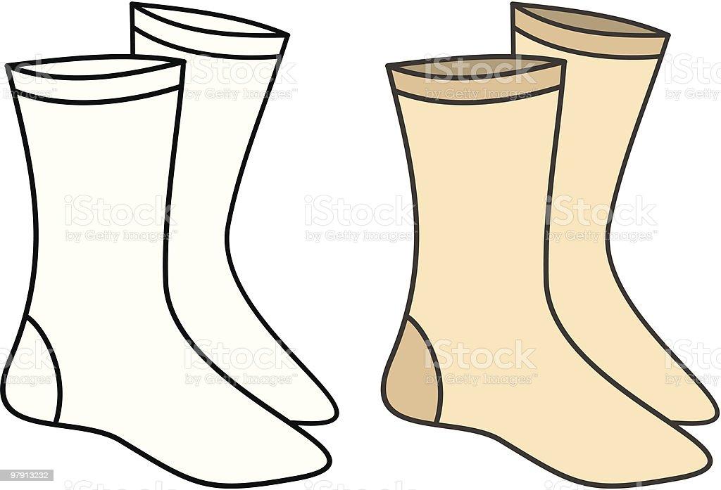Socks - Vector Illustration royalty-free stock vector art