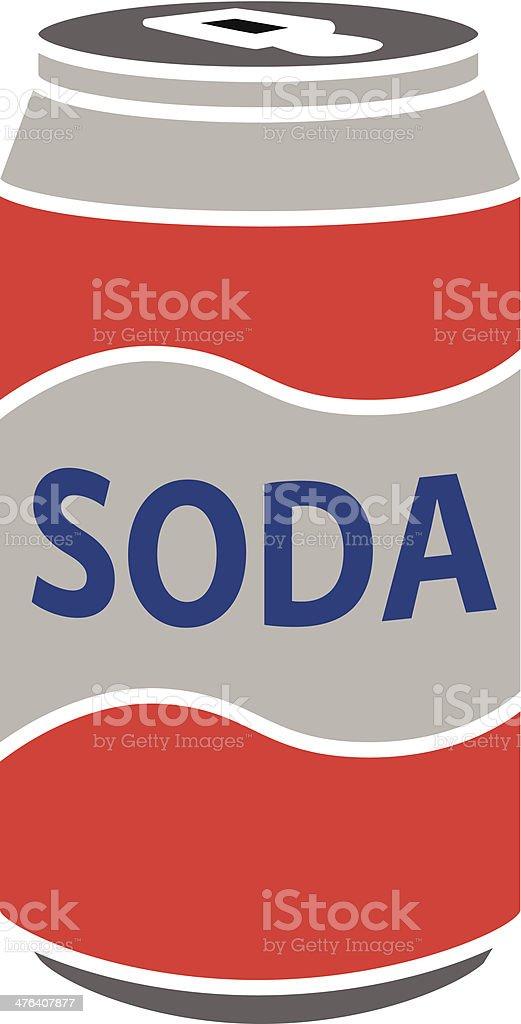 soda can vector art illustration