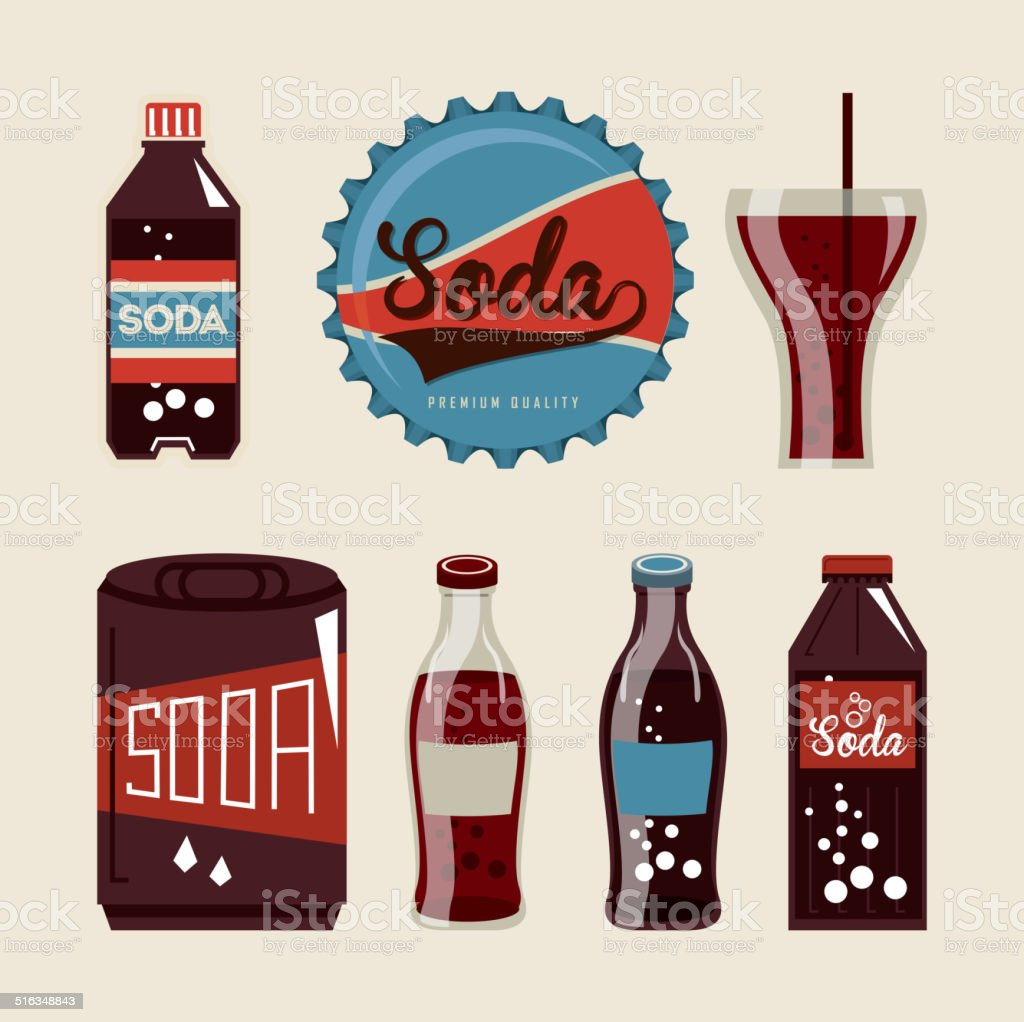 soda design vector art illustration