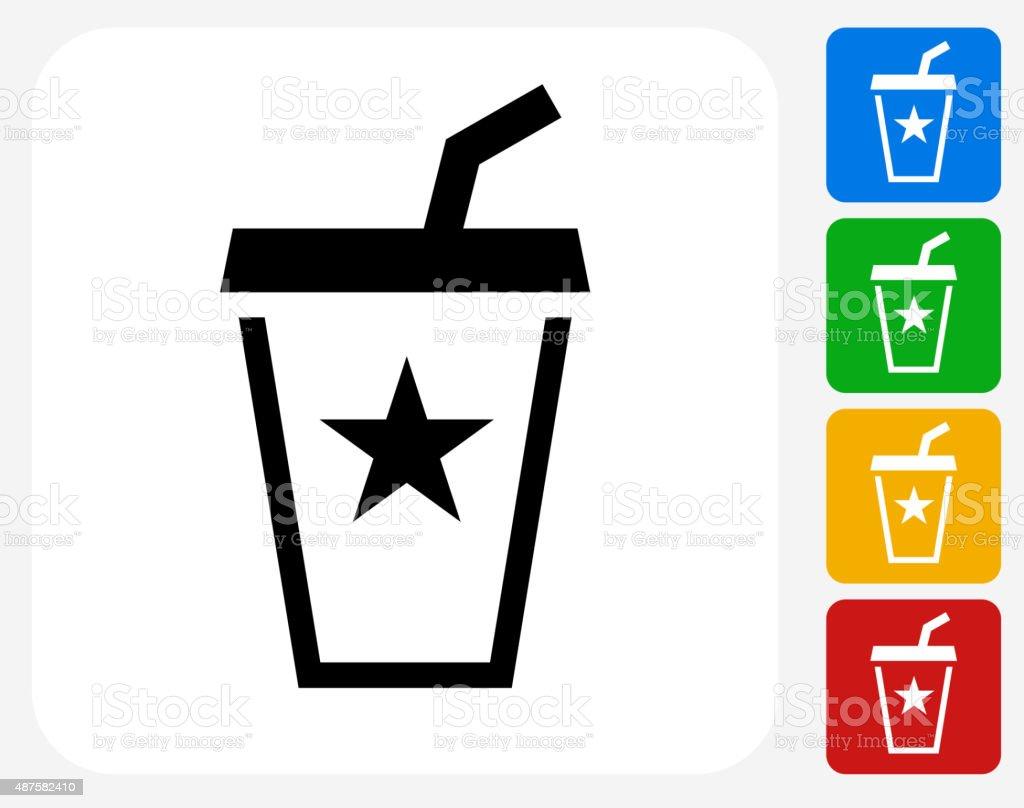 Soda Drink Icon Flat Graphic Design vector art illustration
