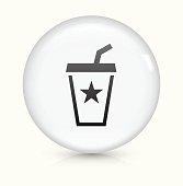 Soda Drink icon on white round vector button