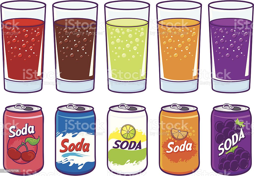 Soda royalty-free stock vector art