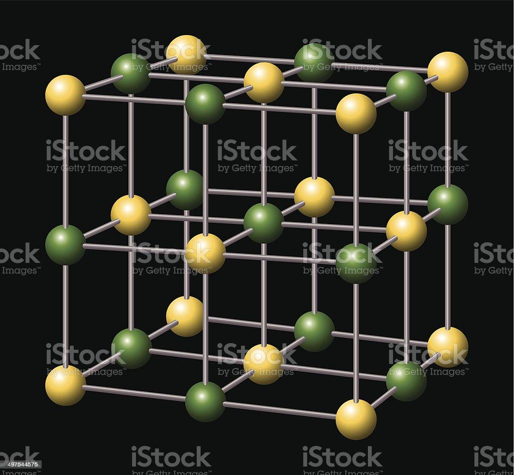 Sodium Chloride - NaCl - Salt vector art illustration