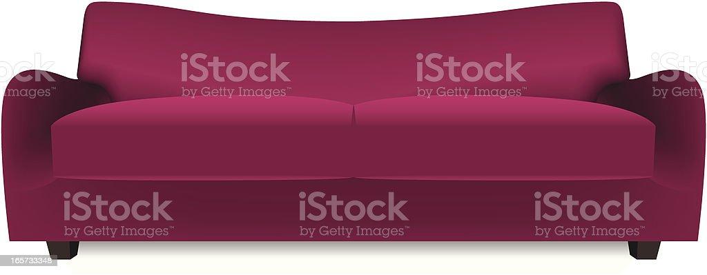 sofa vector art illustration