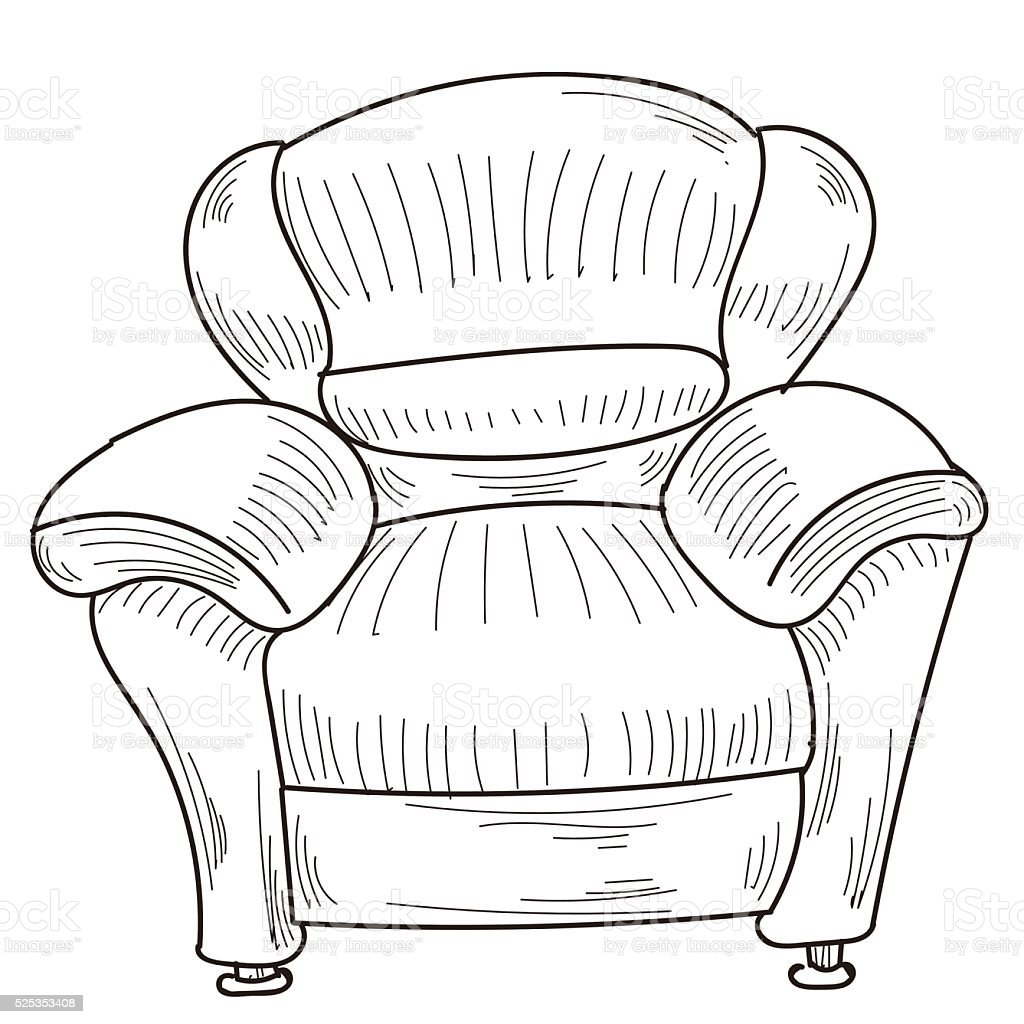 sofa vector art illustration
