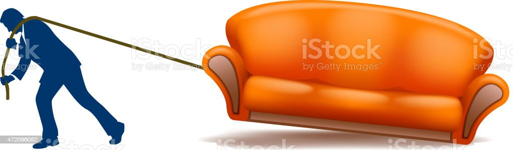 sofa10 vector art illustration
