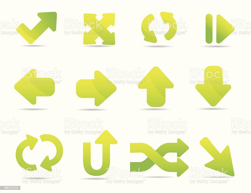 Soft Arrow Icons royalty-free stock vector art
