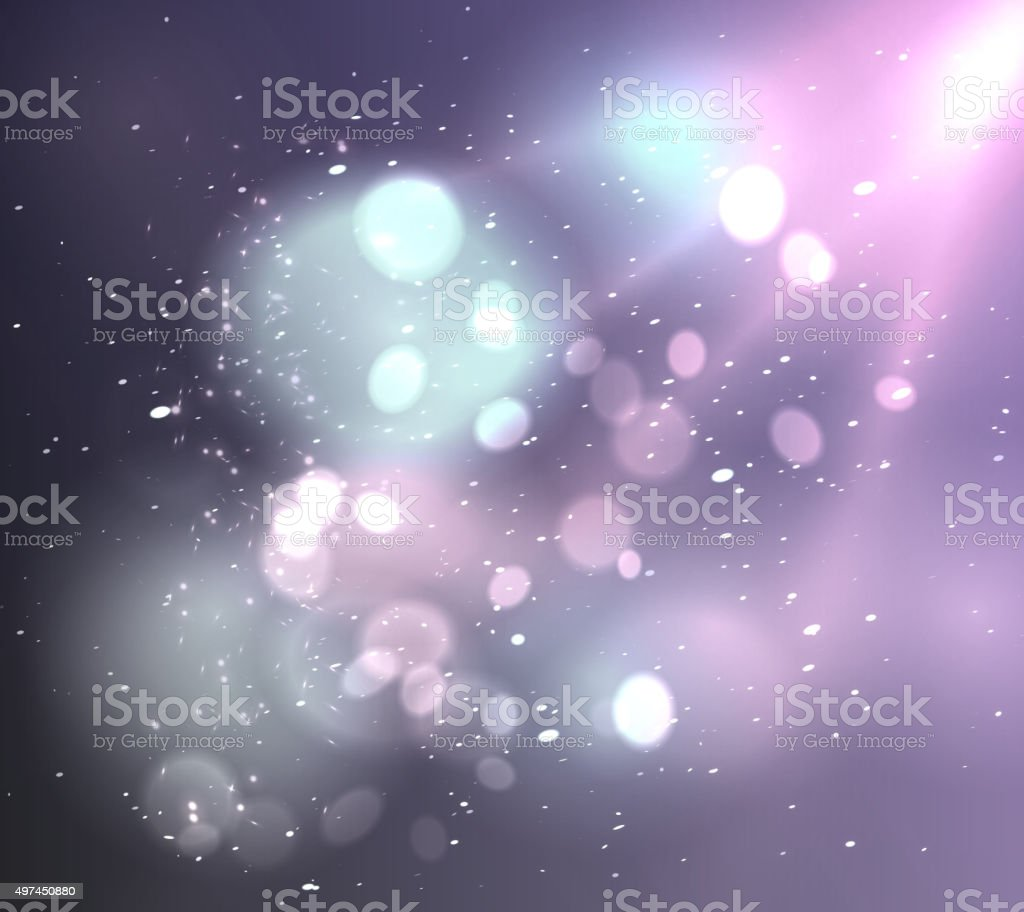 Soft background with light and bokeh vector art illustration