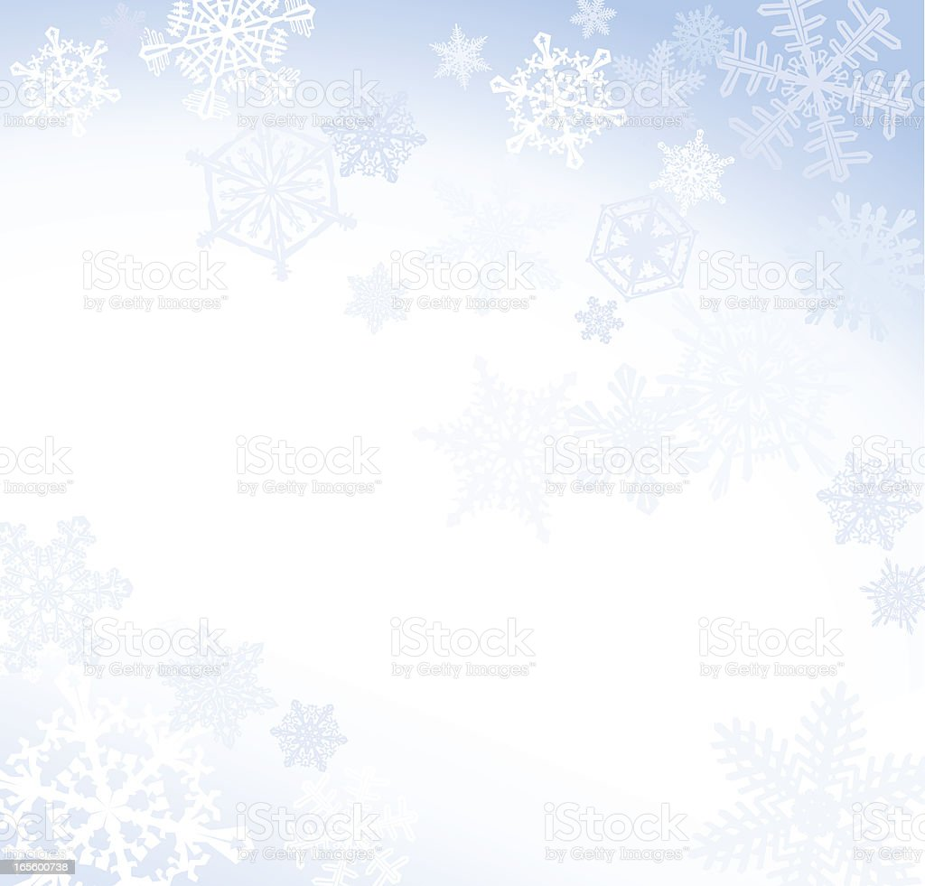 Soft Blue Snowflake Background royalty-free stock vector art