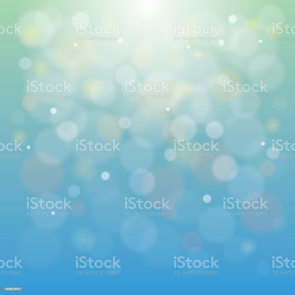 Soft Blurry Background with Bokeh Effect vector art illustration