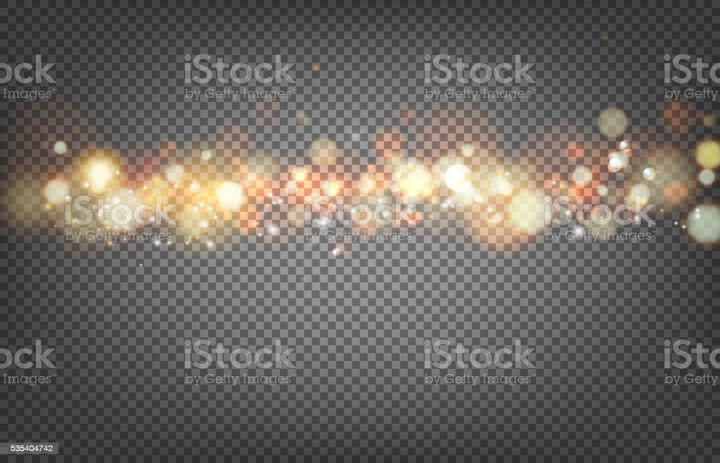 Soft bokeh and lights. vector art illustration