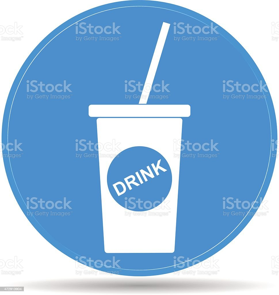 Soft drink icon vector art illustration