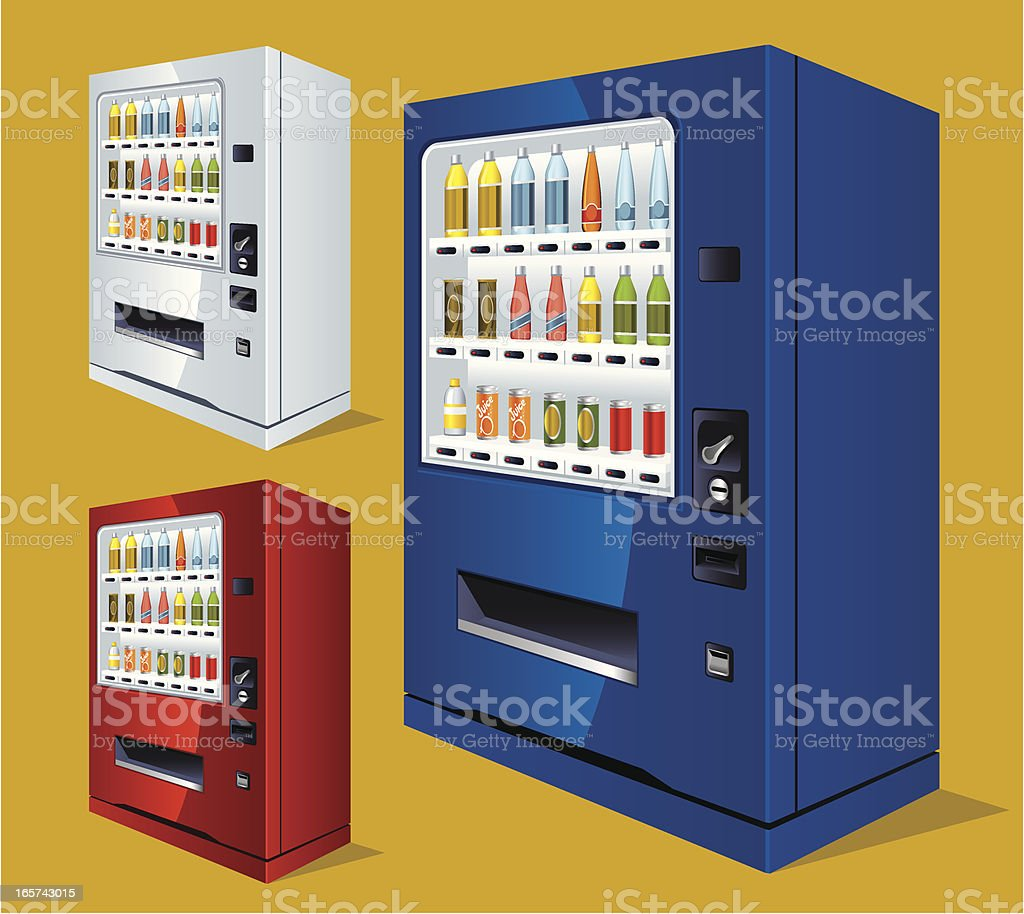 Soft Drink Vending Machine royalty-free stock vector art