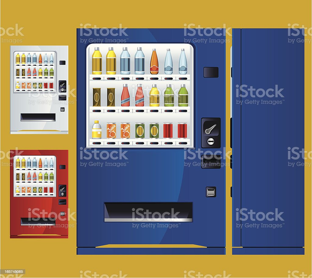 Soft Drink Vending Machine vector art illustration