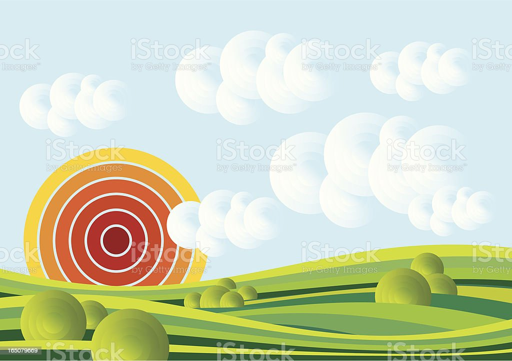 soft field royalty-free stock vector art