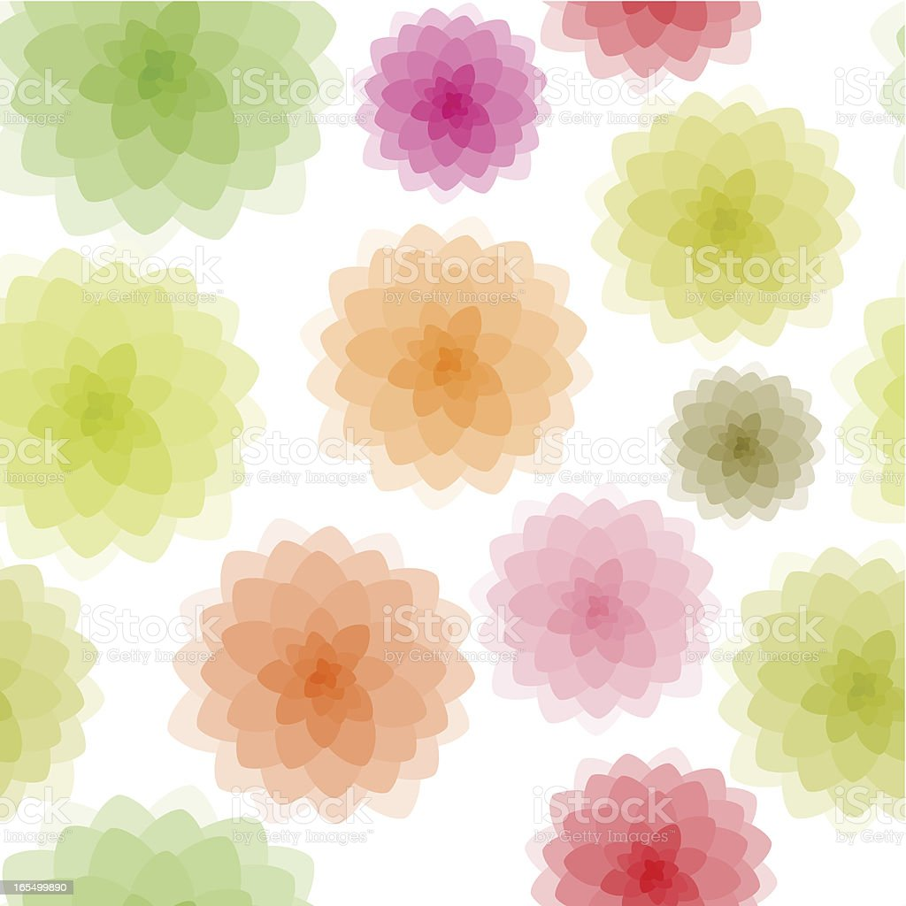 Soft floral pattern royalty-free stock vector art