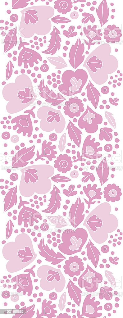 Soft pink floral silhouettes vertical seamless pattern background royalty-free stock vector art