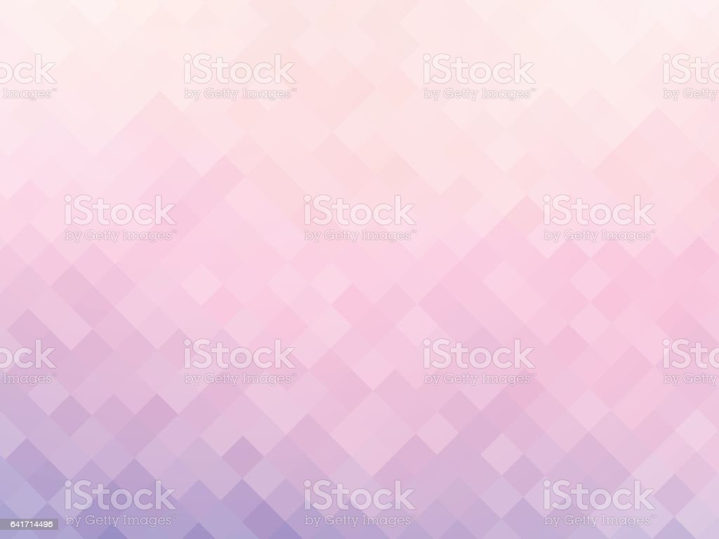 soft pink squares mosaic background vector art illustration