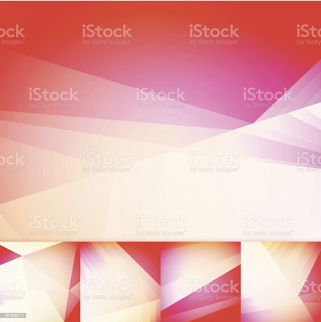 Soft Red Geometric Graphic Art Layout Template Abstract Vector Background vector art illustration