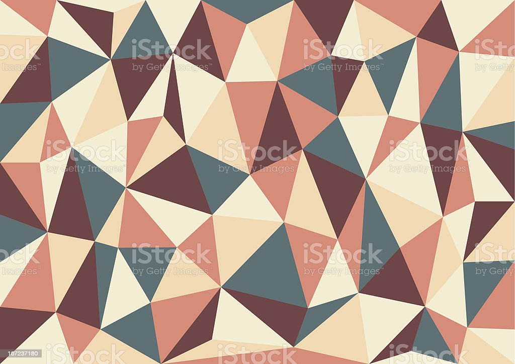 Soft Retro Triangles Vector Background royalty-free stock vector art