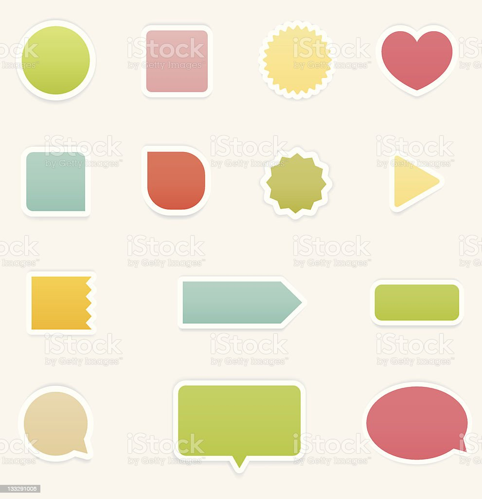 Soft Stickers royalty-free stock vector art
