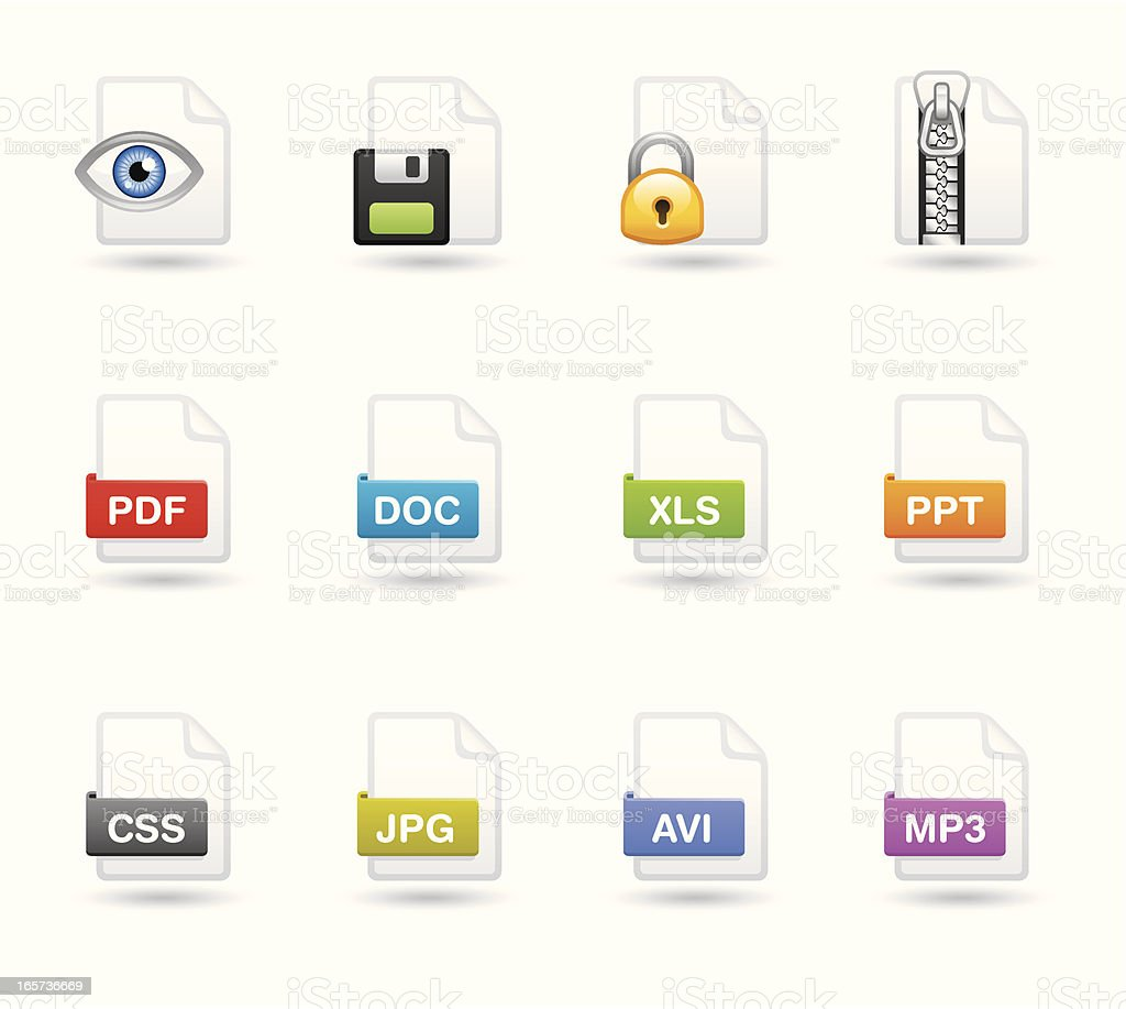 Softico Icons - File type vector art illustration