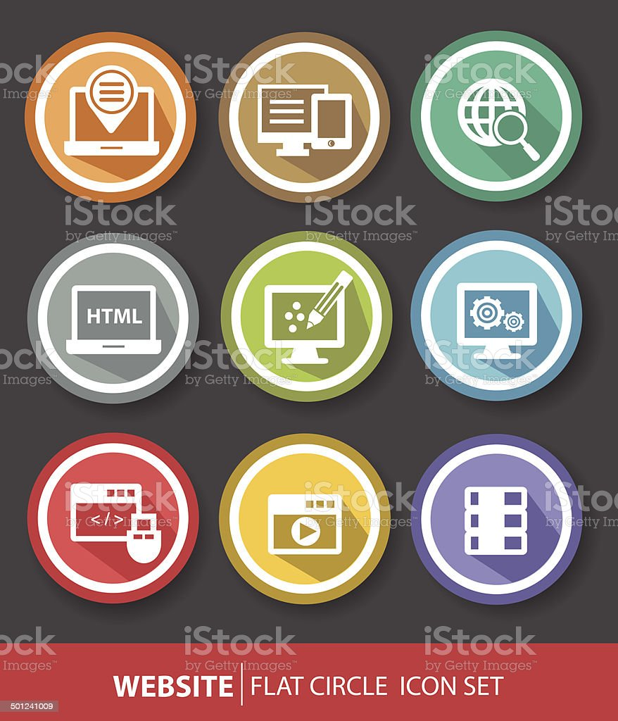 Software and programming buttons,vector vector art illustration