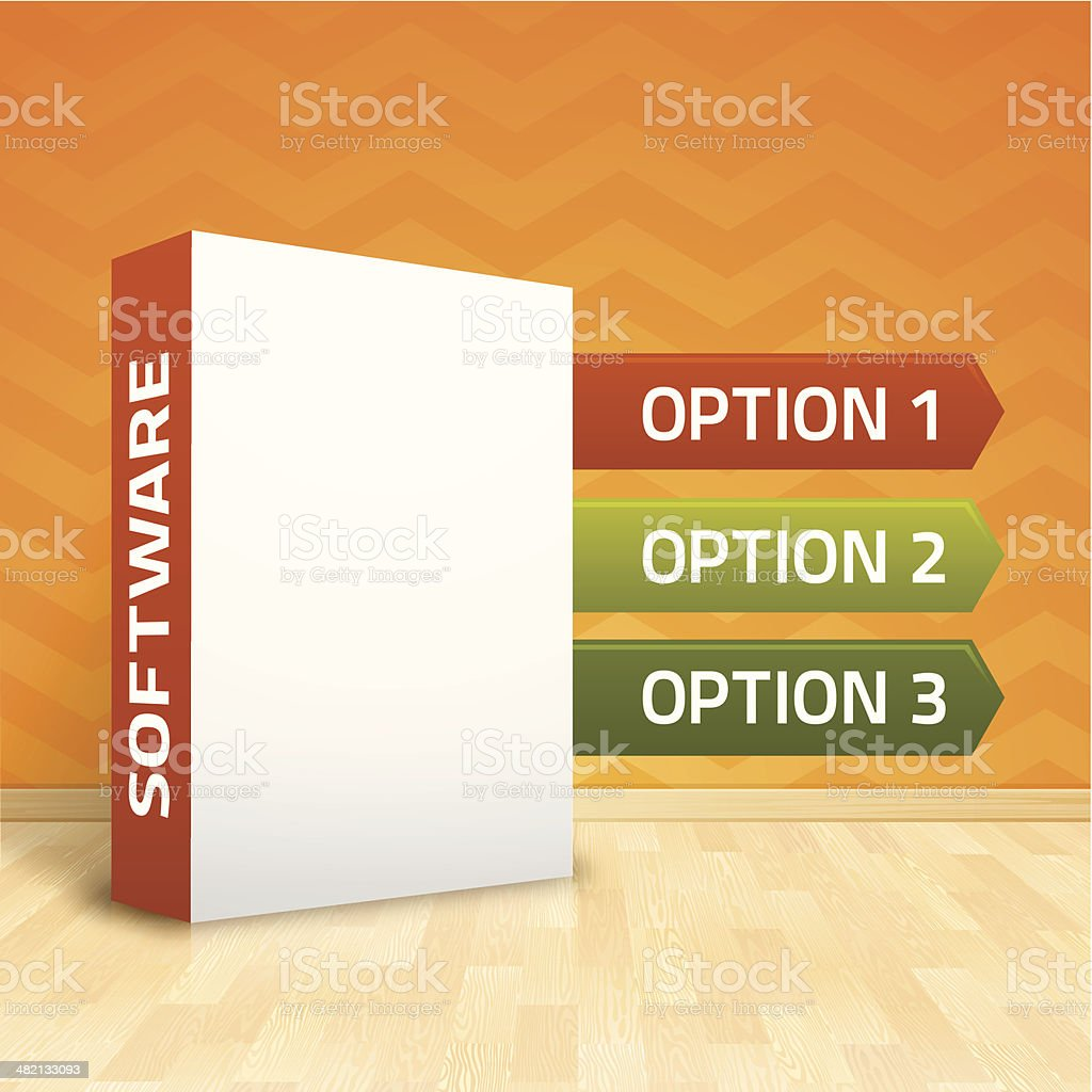 Software Box Options royalty-free stock vector art