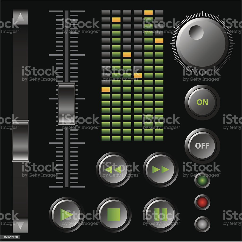 software buttons royalty-free stock vector art