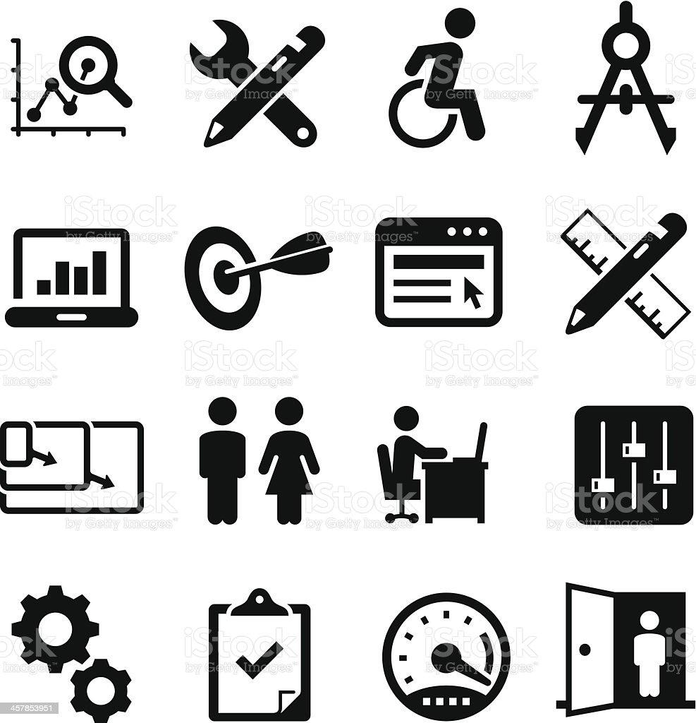 Software Design Icons - Black Sereis vector art illustration