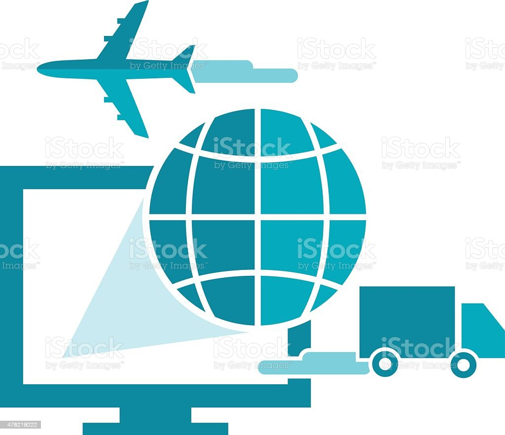 Software for Shipping Company vector art illustration