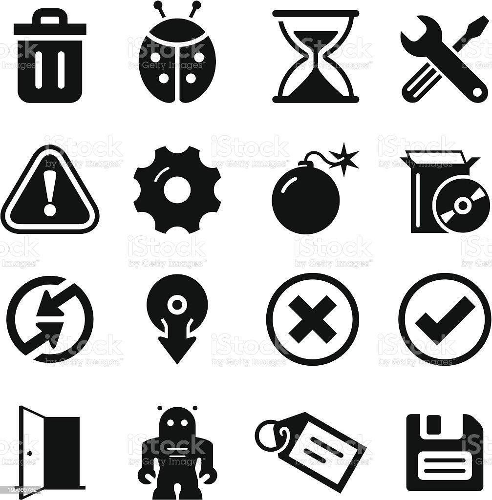 Software Icons - Black Series vector art illustration