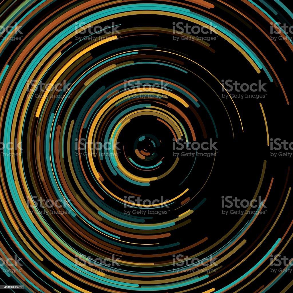 Soil Concentric Circle Pattern vector art illustration