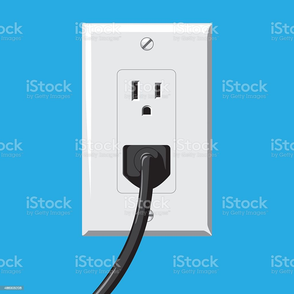 Soket and Plug vector art illustration