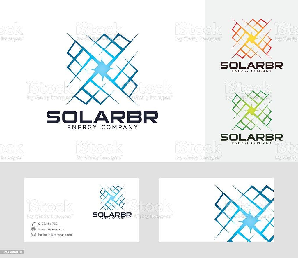 Solar Bright vector logo vector art illustration
