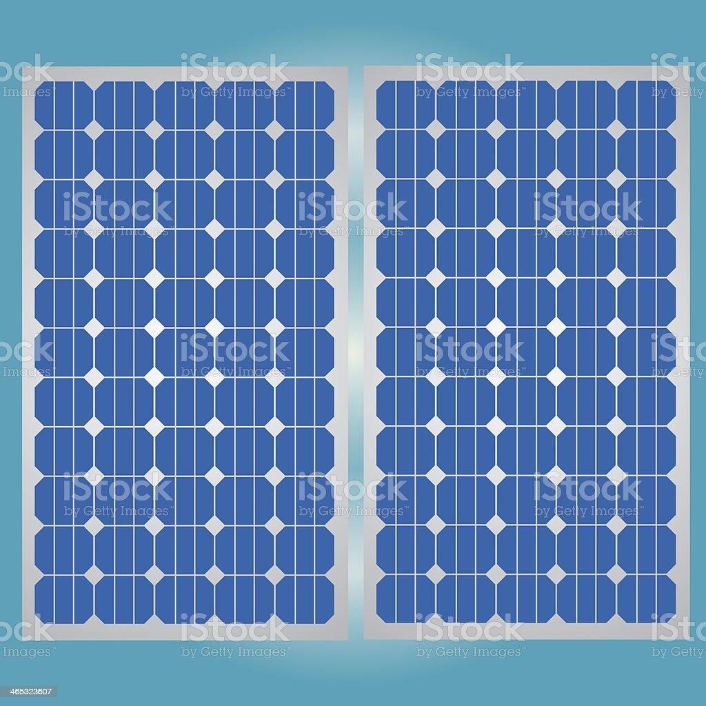 Solar cell panel for clean energy vector art illustration