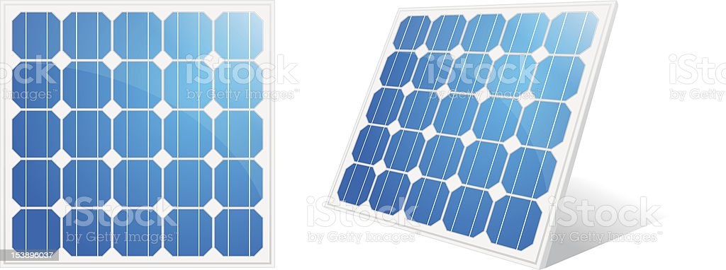 Solar cell vector art illustration